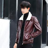 manteau en cuir rembourré hiver plus velours hommes veste vêtements en coton vêtements d'hiver coréen 2018 nouvelle veste de coton tendance