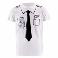 Novos Homens Da Polícia Piloto 3d T Shirt Médico Cavalheiro Adulto Engraçado Partido Cop Punpkin Sailor Pirata Marinheiro de Papai Noel Cosplay O-pescoço roupas