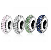 Charms Original Bracelet Spacer Charm 925 Silver Bead Abstract Zircon Beads Jewelry Making Invierno DIY Berloque