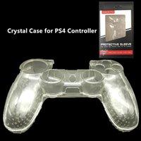 Syytech protetora transparente transparente de cristal shell capa dura capa para controlador ps4 com pacote de caixa de presente