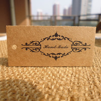 200pcs lot 5. 7*2. 4cm printed black brown handmade brown kraf...