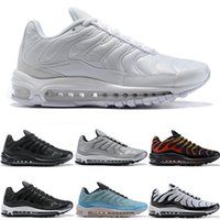 Cheap 97 Plus Mens Womens Running Shoes Fire Red Light Green...
