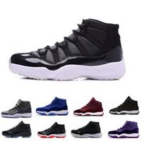 11 Balo Gece Kap ve Kıyafeti Blackout Win 82 82 Spor Salonu kırmızı Chicago Geceyarısı Donanma Basketbol ayakkabıları 11s Bred Space Jam Concords Spor Sneaker