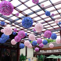 6 24 Polegada Flores Artificiais Rose Balls Flor De Seda Do Casamento Flores Falsas Beijando Bola Flor Decorativa Para O Jardim Do Jardim Do Casamento
