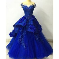 Luxury Sweetheart Evening Dresses 2018 Royal Blue Prom Dress...