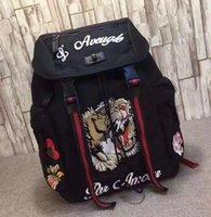 النمر التطريز techpack مع التطريز مصمم الفاخرة حقيبة سفر الرجل حقيبة الظهر حقائب الكتف كتاب حقيبة الظهر