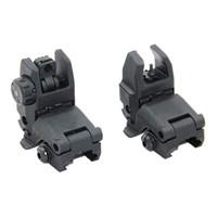 Taktisk M4 AR15 AR-15 Fram och bakre flip up Sight Snabb övergång Backup Folding Sight for Picatinny Rail