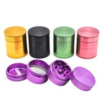 Wholesale Colorful Grinders 4 Parts 40mm tobacco grinder Dry...