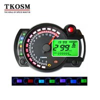 TKOSM KOSO Motorcycle Digital LCD Gauge Velocímetro Tacómetro Odómetro Moto Instrumento 7 Color Display Oil Level Meter