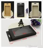 Kraft-Brown-Schwarz-Weiß-Kleinpaket-Kasten-Kästen verpacken mit Einsatz für Telefonkastenabdeckung iPhone x 5 6 7 8 PLUS Samsungs-Galaxie S6 s7 Rand S8 S9