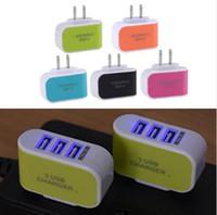 Süßigkeit 3 USB-Wand-Ladegerät Reisen Adapter us-Stecker Netzteil mit dreifach USB-Ports für iphone 7 Samsung S8 Handy