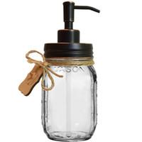 Hohe Qualität ORB Farbe Rust Beweis Kleiner Kopf 304 Edelstahl Lotionspender Soap Pump Deckel DIY Weckglas Soap Dispenser- NO Jars