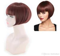 Heißer Verkauf-synthetisches Haar-kurze Perücke neue stilvolle gerade volle Perücke für African American Frauen-neue Art Bobo synthetischer Perücken 99J Farbe