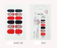 Tide Fan non- toxic nail stickers fashion 12 black and red la...