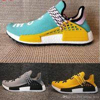 Orijinal Pharrell Williams Hu TR Ayakkabı İnsan Yarışı Koşu Ayakkabıları Koşucu erkekler ve kadınlar Eğitmenler Sneakers Çizmeler B ...