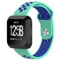 Sport Mesh Silicone band For Fitbit Versa Strap dual color B...