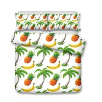 3D Pineapple Designs Pillow Case Quilt Cover Twin Full Queen...