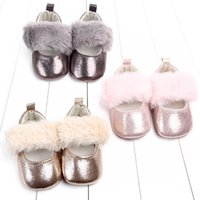 Spring and Autumn Baby First Walkers Girl Hairy Princess Sho...