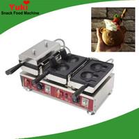 Comercial Forma linda Taiyaki Máquina de la máquina de la máquina de la boca abierta Máquina de gofres de la máquina de helado Galleta de cono Fabricante eléctrico Snack Popular Machine