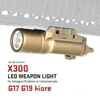 Vendita di fabbrica Tactical X300 Ultra LED Pistol Pistol Lanterna Airsoft Torcia elettrica con binario Picatinny per la caccia cl15-0026