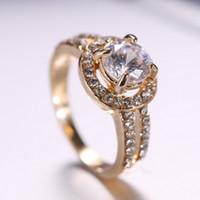 Joyería de la boda del anillo del dedo del oro de Rinhoo para los hombres de los amantes de los pares de los pares Conjuntos nupciales