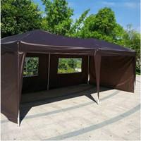 Бесплатная доставка Оптовая 3 х 6 м два окна практическая водонепроницаемый складной палатка темный кофе открытый кемпинг палатка