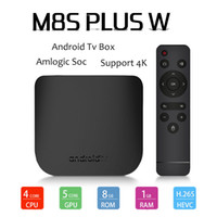 Newest M8S Plus W android tv box Quad Core 1G 8GB Amlogic S9...
