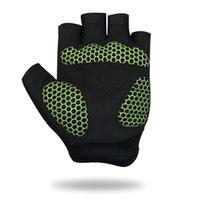 Защитное снаряжение дышащие Велосипедные перчатки дорожный велосипед перчатки мужчины Спорт половина пальца противоскользящий велосипед MTB дорожный велосипед перчатки #CG-01