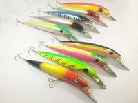 Lot10 Fishing Lure Crankbait Bait Hook Bass 44.5g / 19,5 centimetri di trasporto
