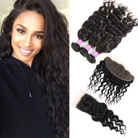 Raw brasilianisches Jungfrau-Haar Vendors Wasser Welle 3 Bundles mit Spitze Schließung Frontal Haarverlängerungen Tressen indischer peruanischer Weave Bundles