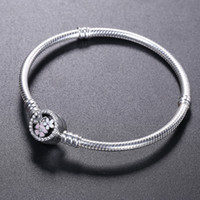 2018 Fashion 925 Sterling Silver BRACELET bloom flower ename...