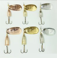 Hot SPINNER Metal Jigs Fishing Lure 6 Size 3 Colors Freshwat...