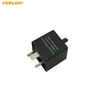 FEELDO Car CF14 KT 3-pin adjustable Japanese car or Motorcycle Electronic LED flashers Turn Signal Relay Fix flasher #5355