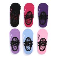 Kadınlar Anti Kayma Bandaj Pamuk Spor Yoga Çorap Bayanlar Havalandırma Pilates Bale Çorap Dans Çorap Terlik 6 Renk WS-32