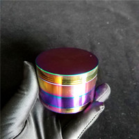 63mm Rainbow Large Herb Grinders 3 Capa Grinder Tobacco Cheap Big Cali Triturador Grinder Diamond Herb Grinder En Venta