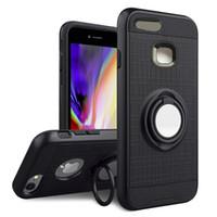 Huawei P10 için Artı P10 Lite P9 lite akıllı / Zevk 6 S Darbeye Çift Katmanlı Koruma Zırh Vaka 360 Rotasyon Katlanabilir Kickstand Telefon Kılıfı