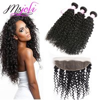 Peruvian Human Hair Wefts with Closure 13by4 Frontal Ear To ...