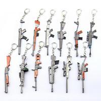 12 سنتيمتر kechain لعبة ليلة معركة رويال بندقية رشاش نموذج أقراط مراوح تذكارية هدية لعب للأطفال