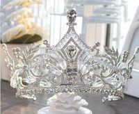 2019 Las coronas de novia más nuevas de calidad superior Cristales de Bling Bling Tocados Corona de boda Tiara de novia Accesorios de fiesta de boda