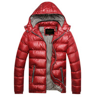 Autumn Winter Hooded Jacket Men Parka Quilted Padded Wadded ...
