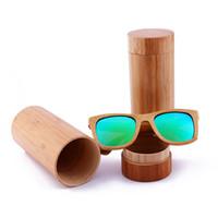 2018 neue Art polarisierte Sonnenbrille Bambusrahmen Holz Sonnenbrille Männer Frauen Holz Sonnenbrille Bambus Brillen Holz Gläser