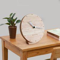 Orologio in legno massello soggiorno moderno minimalista pendolo desktop desktop orologio silenzioso Nordic creativo camera da letto seduta