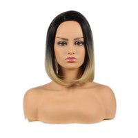 Product 2 Tone Black And blonde Ombre Wig Heat Resistant Kan...