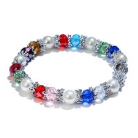 Fashion Women Natural Crystal Beads Bracelets Snow Crystal C...