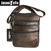 JASON TUTU Marca Homens de couro Genuíno Saco Crossbody, Pequenos sacos de Ombro Homens sacos de mensageiro bolsos Bolsa Preto Marrom B360
