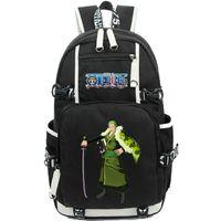 Roronoa زورو ظهره قطعة واحدة اليوم حزمة الكلاسيكية أنيمي حقيبة مدرسية الكرتون packsack الجودة الظهر الرياضة المدرسية في daypack