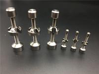 Prego de titânio 14mm 18 m de metal clique n vape para Incenso Globo Dab Oil Rig de quartzo de cerâmica de vidro Ajustável Ti Nails titanium nail