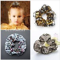 Glitter Scrunchie Ponytail Holder paillettes Scrunchies Pelo Pony Coda Wrap Hair Ties Regalo per Lei 14 colori CNY133