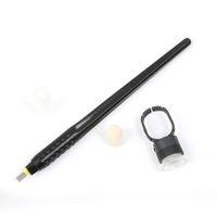 أسود التخلص من القلم الوشم الوشم microblading مع 18U / 15M1 / PCD14 الإبر الحاجب شفرة دليل microblade الإبرة