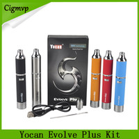 Yocan Evolve Além disso Starter Kit 1100mAh Bateria Quartz dupla Bobinas Hive atomizador Starter Kits Wax seco Herb Pen vaporizador 0266119